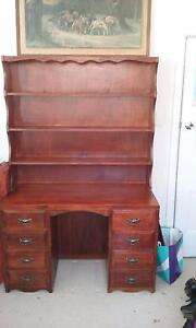 Stained wood bookcase/desk Armidale Armidale City Preview