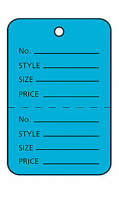 3000 Perforated Tags Price Sale 1 X 1 Two Part Blue Unstrung Tag Small
