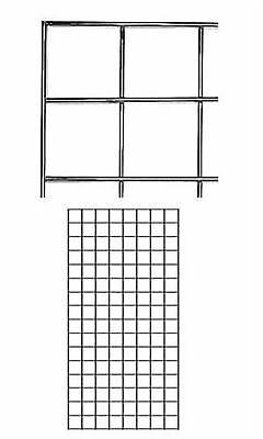 2 Wire Grid Panels 2 X 4 Chrome Retail Display Gridwall Double Wire Sides
