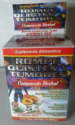 Rompe Quistes-Tumores Compuesto Herbal para Quistes-Papiloma-Ulceras-Hemorragias