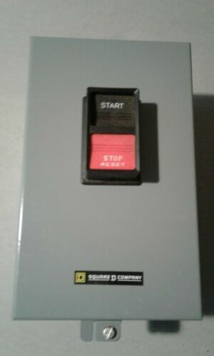 NEW SQUARE D CLASS 2510 SIZE 1 SINGLE PHASE HEVIDUTY MANUAL STARTER