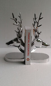 Aluminium stag head bookend deer head antelope figurine fx - Stag book ends ...