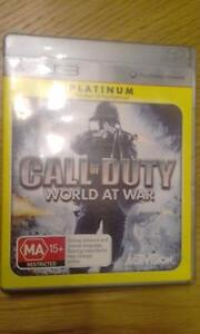 Call of Duty world at war ps3. Yanchep Wanneroo Area Preview