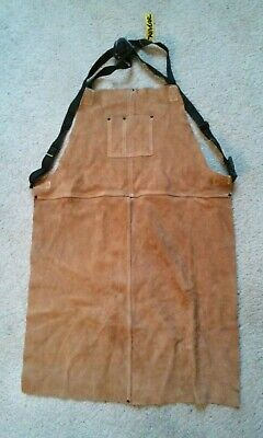 8807 New Weld Rite Leather Suede Kevlar Multi Use Bib Work Apron