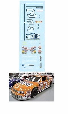 #3 Dale Earnhardt Wheaties 1997 decal AFX Tyco Lifelike 1/64 scale