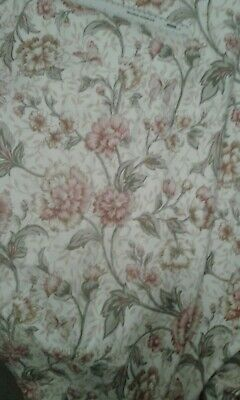 """Large VINTAGE Curtains By Curtina Shabby Chic Floral Butterflies Vgc L88"""" W84"""""""