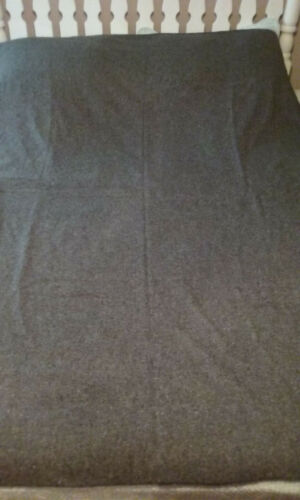 """American Woolen Charco Gray Camp Blanket 60"""" x 82"""" 52% Recycled Wool"""