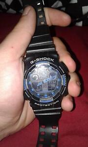g shock watch black and blue Port Kennedy Rockingham Area Preview