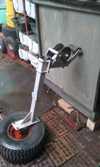Boat trailer winch post and winch