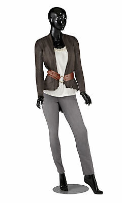Female Glossy Black Cameo Fiberglass Mannequin - Height 510 - With Base
