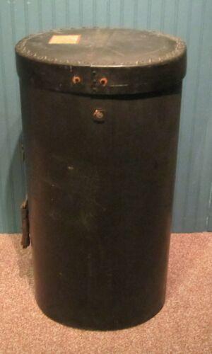 Antique Spaulding Vulcanized Trunk Fibre Travel Hat Box Case Salesman