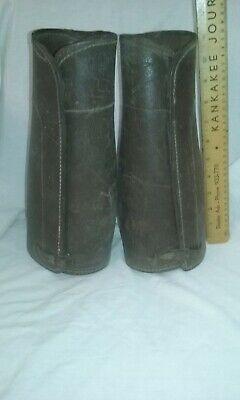 Spats, Gaiters, Puttees – Vintage Shoes Covers  Antique Vintage leather riding spats shin guards gaiters $16.99 AT vintagedancer.com