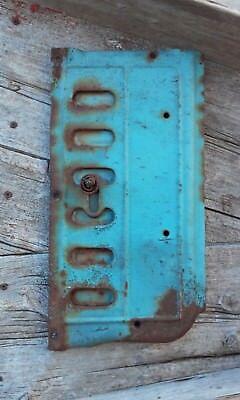 Antique Stove Oven Door Cast Iron w/Flue Draft Plate Primitive Steampunk Decor