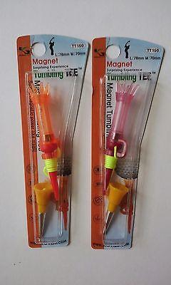 Tumbling Magnet TT-150 Golf Tees 1 Packet(2 sets) Surprising Tee