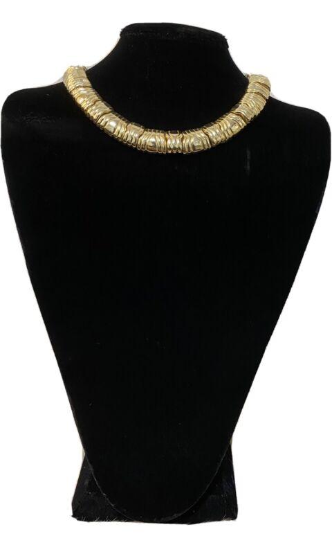 Gold Tone Fashion Jewelry Choker.