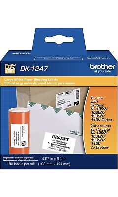 Brother Genuine Dk-1247 Die-cut Large Shipping White Paper Labels For...