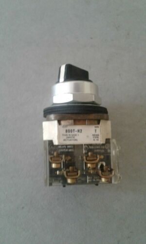 ALLEN BRADLEY 800T-H2 2 POSITION MAINTAINED SELECTOR SWITCH