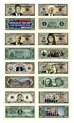 Donald Trump 45th President Collectors 8 Bill Set: Commander In Chief Bill, 2...