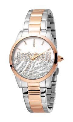 Firma Glitter (Just Cavalli Women's Firma Watch JC1L010M0415 Silver Glitter Dial Two Tone Steel)