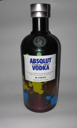 Rare Limited Edition ABSOLUT VODKA Collectible Empty Bottle UNIQUE EDITIION .