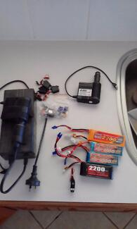 Rc planes Batteries and chargers for 7.4v planes