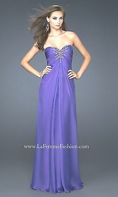 La Femme pageant prom social occasion Long cocktail party dress 6 purple NEW for sale  Shipping to Ireland