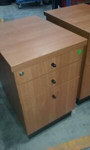 Under desk filing cabinet, 3 drawer, timber [242] Braybrook Maribyrnong Area Preview