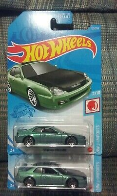 Hot wheels 2021 dollar general exclusive 98 honda prelude green (x2)