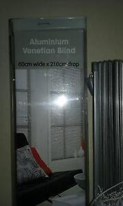 2 x silver aluminium Venetian blinds 60cm wide x 210cm drop Burleigh Waters Gold Coast South Preview