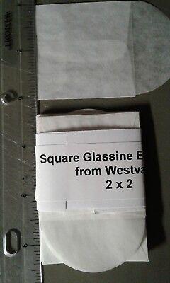 25 Square Glassine Envelopes - 2 x 2