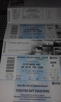 2 fleetwood mac tickets brisbane entrainment centre Narangba Caboolture Area Preview