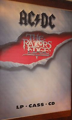 "40x60"" HUGE SUBWAY POSTER~AC/DC 1990 The Razors Edge Massive Billboard Print NOS"