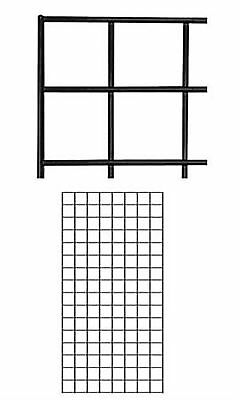 2 Wire Grid Panels 2 X 4 Black Retail Display Craft Gridwall Wire Grid Panel