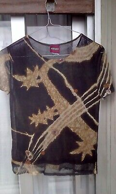 Vintage Kenzo mesh top lined Small