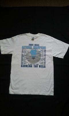 North Carolina Tar Heels 2005 National Champions Bracket T-Shirt Large New NCAA 2005 North Carolina Tar Heels