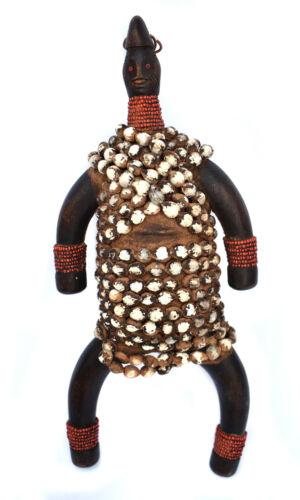 """12"""" tall - Namji Fertility Doll - Cameroon Africa - Handmade Beaded Fetish - VTG"""