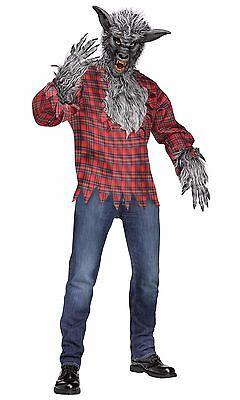 Werewolf Wolfman Silver Grey Adult Costume - Grey Werewolf Costume