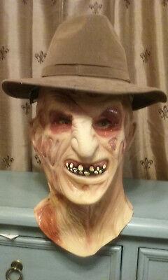 Freddy Krueger Fedora Hat (Brown Fedora Freddy Krueger Hat , Fedora Hat , Freddy Krueger Mask , Costumes)