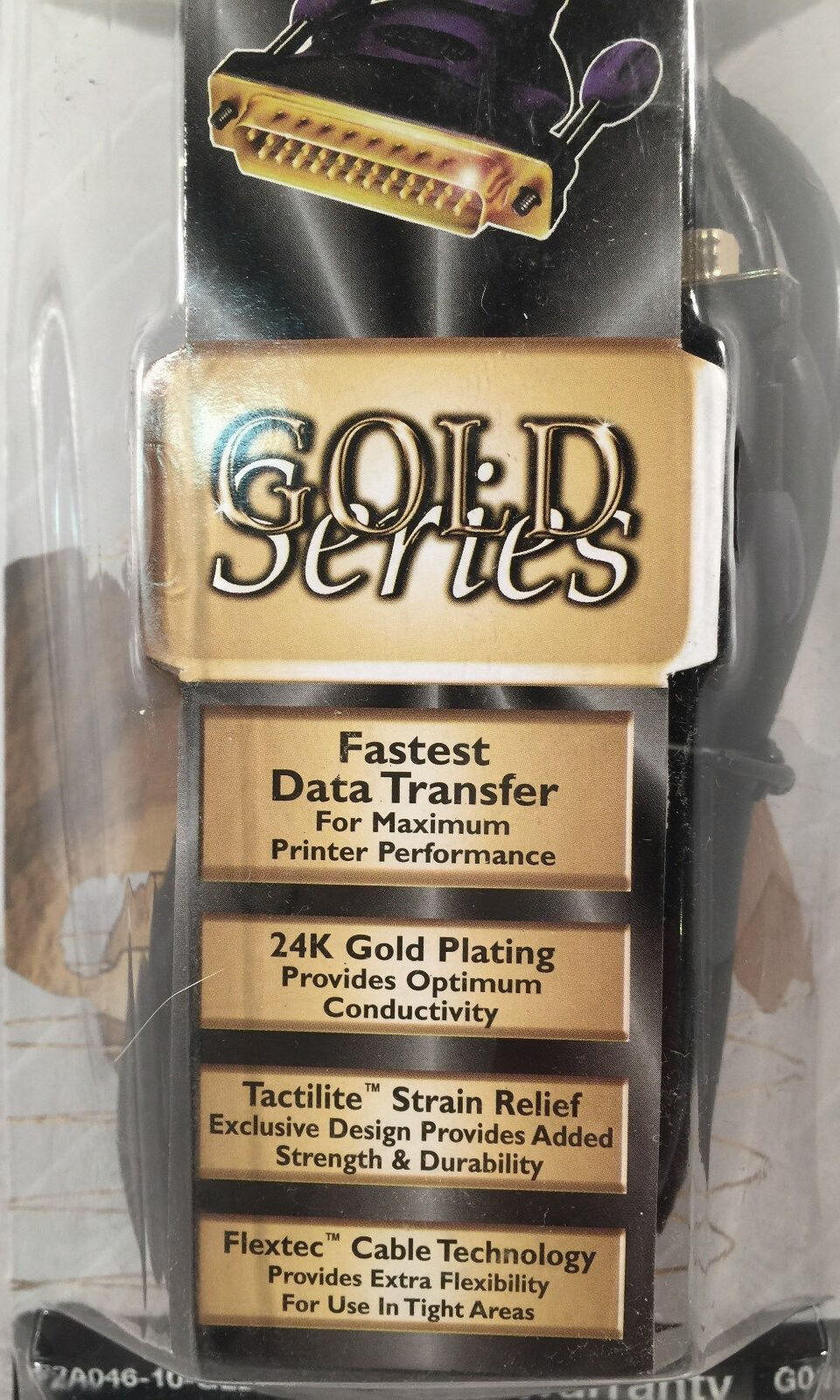 Belkin Printer 1284 Gold Series Cable 10 Feet IEEE A-B PC Compatible NWT - $6.99