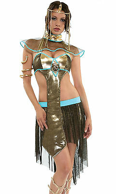 Sexy Cleopatra Egyptian Queen Luxury Outfit Pyramid Priss Halloween Forplay XS S