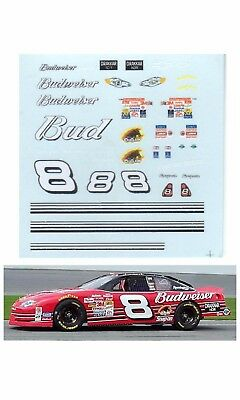 Dale Earnhardt Jr 2001 #8 Bud decal AFX Tyco Lifelike 1/64 scale
