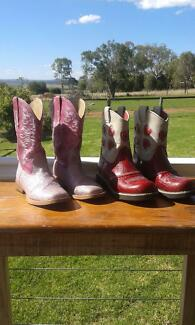 Girls Ariat and Roper Riding boots