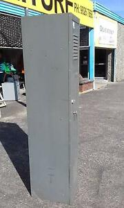 ANTIQUE METAL INDUSTRIAL LOCKER*STORAGE LAUNDRY CABINET*LOCKABLE Cartwright Liverpool Area Preview