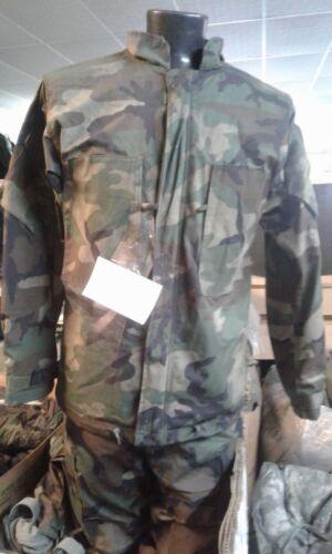 "USGI 2pc NBC Military Hazmat Chemical Protection Suit Camo Size MED 39"" Waist"