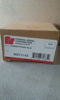 Federal Signal 602111-03 Replacement Corner Strobe Blue - Fast-onamp Nos