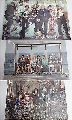 BTS Wings + Never Walk Alone Official Unfolded Poster 3p set K-POP Bangtan boys