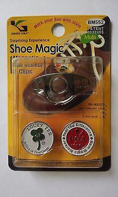 BM-552  Golf Magnetic Ball Marker & Shoe Magic Holder 1 Pack(BM 2pcs+SMH 1pcs)