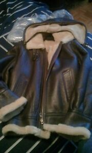 Brand new leather coat size S-M