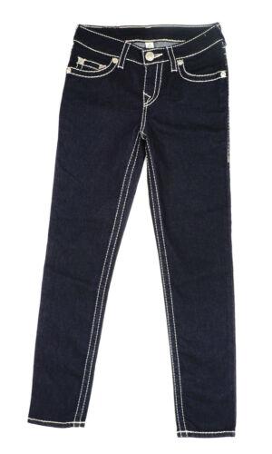True Religion Girls Skinny Natural Big T Soft Pink Thread Dark Blue Denim Jeans