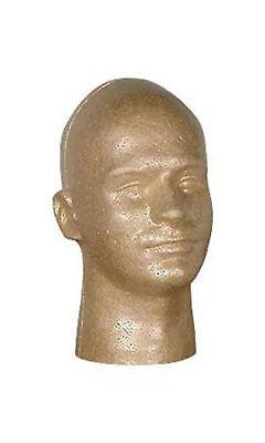 Male Suntan Styrofoam Mannequin Head Hat Cap Wig Display 11 H Man